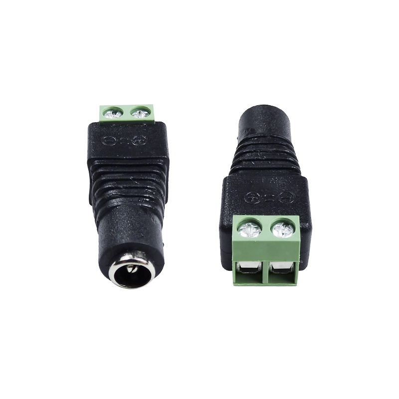 DC Power Female Connector with 2 Pin terminals CCTV Accessory Wiring Plug