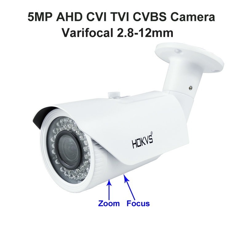 5MP IMX326 AHD CVI TVI CCTV Camera Security IR Varifocal 2.8-12mm 5.0MP HD